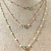 Collier 🧿 par #amulettebijoux #plaqueOr 🙌 #boutique #bijoux #draguignan